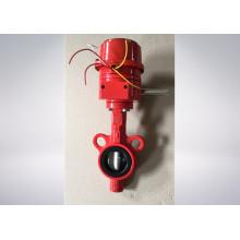 Vanne papillon couleur rouge pour protection incendie