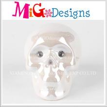 Beliebte neue Design Keramik Skull Shaped Sparschwein