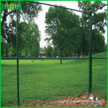 Low cost good quality chain link fence with iso9001 abd tuv certification (factory)