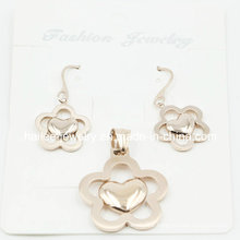 Fashion Flower Charm Pendant Set Jewelry for Gift
