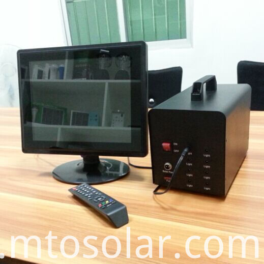 solar system powered tv
