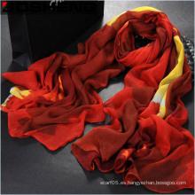 Bufanda larga impresa roja larga del algodón de las mujeres de la manera