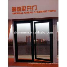 Portas de vidro laterais em alumínio