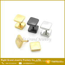 Latest Design 316L Stainless Steel Silver Black Gold Plated Fake Plugs Earrings