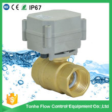 1 Inch Brass 12V 24V Electric Motor Small Ball Valve 2-Way for Smart Home Control