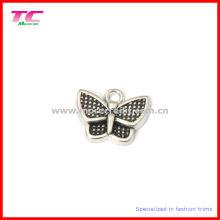 Пользовательские симпатичные бабочки металлический шарм кулон