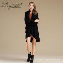 Женская с длинным рукавом мода трикотажные кашемир пуловеры свитер платье дизайн фотографии