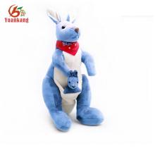 Presente do bebê Stuffed Toy Blue Plush Kangaroo