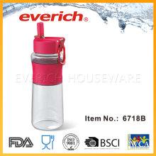 Nuevos productos Botella de plástico vacía con tapa de paja Srew