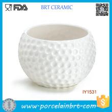 Flor de golf creativa alta maceta de cerámica blanca