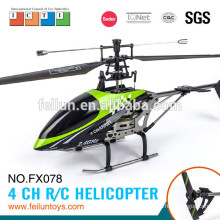 Best selling FX078 44cm 2.4G 4CH single blade rc toy helicopter camera with gyro CE/ROHS/ASTM/FCC certificate
