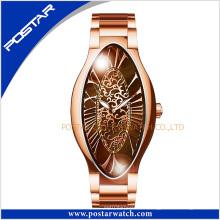 Gute Qualität Einzigartiges Design Mode Luxus ovale Uhr für Frau