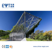 De alta calidad de bajo costo luz de la estructura de acero Canopy