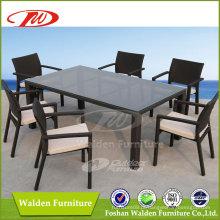Mesa e cadeira de vime ao ar livre (DH-6123)