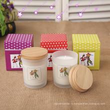 Gros recyclé nouveau Design parfumé Cardborad cadeau bougie