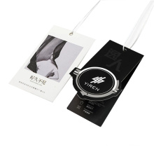 Wholesale Custom Clothing Hangtag Labels Paper Tag with Swing