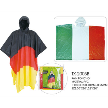 Poncho da pioggia in pvc bandiera Germania