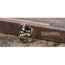 La mode noire bijoux bague charme cuivre couleur animale modélisation