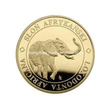 Гравированный слон дешевые вызов монета настройки