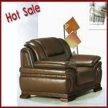 Elegant style brown color leather office sofa set
