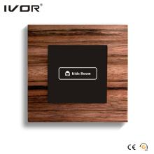 1 Interruptor de encendido de pandillas Marco de contorno de material de madera del panel táctil (HR1000-WD-L1)