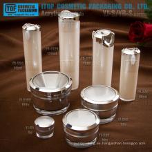 Cosméticos productos principales envases gama alta gran calidad OEM servicio proporcionan tarro y botella cosmética capas dobles