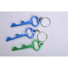Chaîne / anneau / fob métallique à bas prix avec logo personnalisé, Keylight et Carabineer