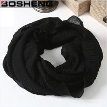 Elegante abrigo suave tejido Infinity Loop bufanda sin fin gasa