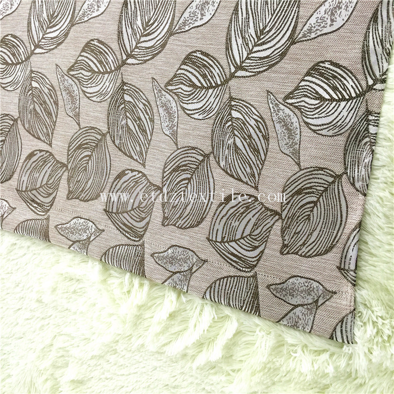WZQ176 Taupe Popular Jacquard Linen Like Curtain