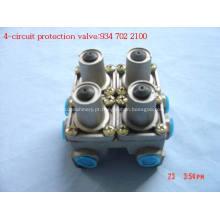 Quatro válvulas de proteção de circuito
