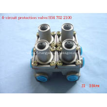 Four circuit protection valves
