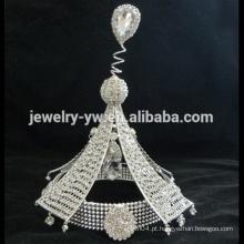 Atacado acessórios de cabelo cristal cheio coroa tiara grande representação para as meninas