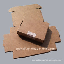 Hand Made Natural Brown Kraft Cardboard Paper Box Falp Packaging