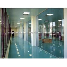 Perfil de aluminio para partición de sala limpia