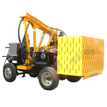 55KW wheeled mini fence post vibrating pile driver with air compressor