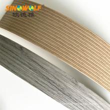 Cor de madeira popular da grão da borda de borda do ABS da mobília