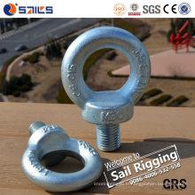 Boulon à oeil DIN580 de grandes attaches plaquées par zinc en acier