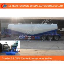3-Axles 35 Cbm Cement Tanker Semi Reboque