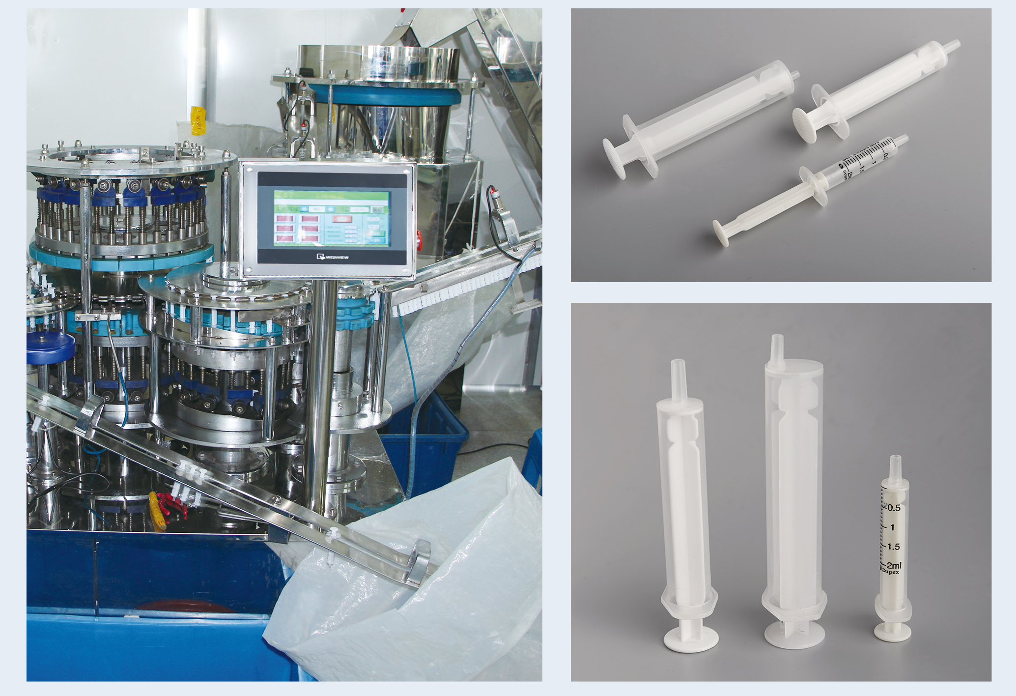 disposable syringe making machine