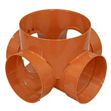 Molde de instalación de tuberías de pieza de plástico de inyección oem