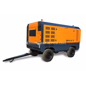 High Pressure Diesel Movable Screw Air Compressor
