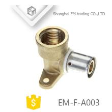 EM-F-A003 Raccord en laiton pour système de plomberie Connecteur Compression en acier inoxydable
