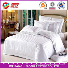Satin Ground 100% Cotton Stripe Dobby Fabric 100% cotton hotel fabric plain/satin/stripe100% cotton bleached woven satin strip