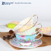 Blume Zeichnung Kleine Keramik Kaffeetasse Und Untertasse Set, Kaffeetasse Kostüm