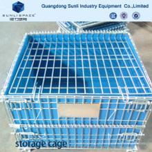 Gaiola de armazenamento de empacotamento Recipiente de caixa de malha de arame