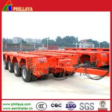 Hydraulic Rotary Axles Drawbar Towing Trailer