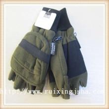 men's anti pilling fingerless flap polar fleece glove