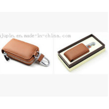 OEM Leather Promotional Car Key Cover with Hook