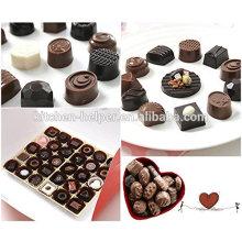 Bandeja de molde de chocolate de silicona para postres de 30 cavidades