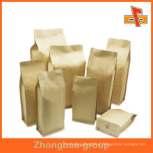 Reciclado Grade Alimentar Decorativo Brown Sacos De Papel Kraft Para Nuts Embalagem De Alimentos